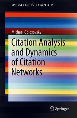 Abbildung von Golosovsky | Citation Analysis and Dynamics of Citation Networks | 1st ed. 2019 | 2019