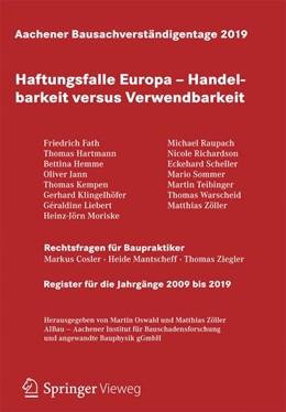 Abbildung von Oswald / Zöller | Aachener Bausachverständigentage 2019 | 1. Auflage | 2020 | beck-shop.de