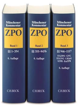 Abbildung von Münchener Kommentar zur Zivilprozessordnung: ZPO | 6. Auflage | 2020 | beck-shop.de