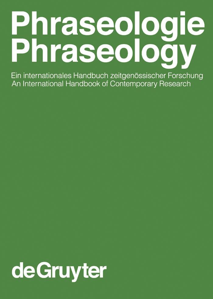Abbildung von Burger / Dobrovol'skij / Kühn / Norrick | Phraseologie / Phraseology. Volume 1 | 2007
