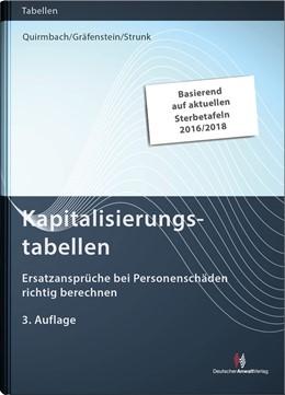 Abbildung von Quirmbach / Gräfenstein | Kapitalisierungstabellen | 3. Auflage | 2020 | beck-shop.de