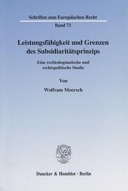 Abbildung von Moersch | Leistungsfähigkeit und Grenzen des Subsidiaritätsprinzips. | 2001 | Eine rechtsdogmatische und rec... | 73