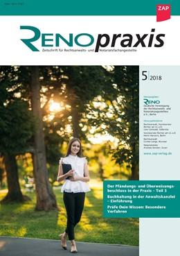 Abbildung von RENOpraxis - Zeitschrift für Rechtsanwalts- und Notariatsangestellte | 1. Auflage | 2020 | beck-shop.de