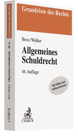 Abbildung von Brox / Walker | Allgemeines Schuldrecht | 44., aktualisierte Auflage | 2020