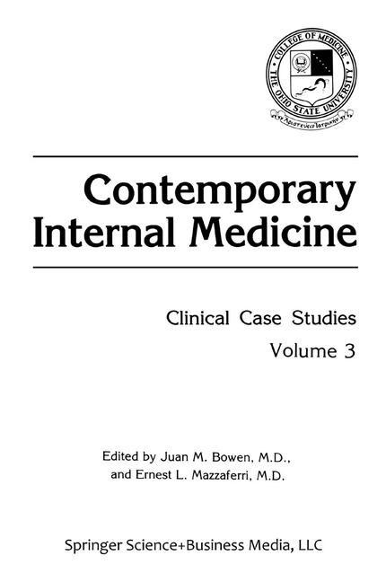 Contemporary Internal Medicine   Bowen / Mazzaferri, 1991   Buch (Cover)