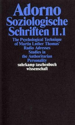 Abbildung von Adorno | Gesammelte Schriften in 20 Bänden | 2003 | Band 9: Soziologische Schrifte... | 1709