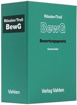 Rössler/Troll: Bewertungsgesetz  BewG Leinenordner 72 mmErsatzordner (leer), 2009 (Cover)