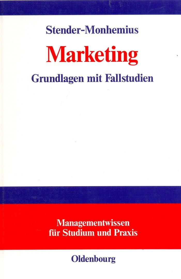Abbildung von Stender-Monhemius | Marketing | 2002