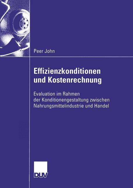 Abbildung von John | Effizienzkonditionen und Kostenrechnung | 2003
