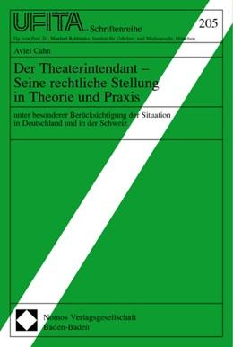 Abbildung von Cahn | Der Theaterintendant - Seine rechtliche Stellung in Theorie und Praxis | 2002 | unter besonderer Berücksichtig... | 205