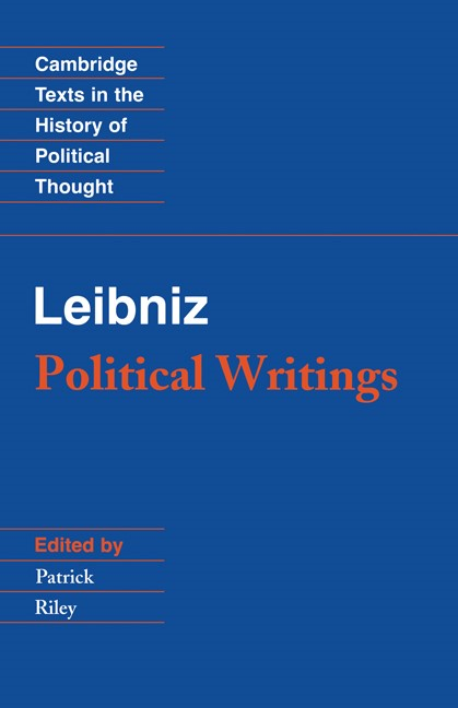 Abbildung von Leibniz / Riley | Leibniz: Political Writings | 2nd edition | 1988