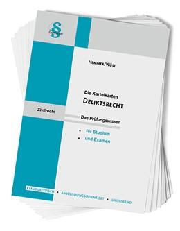 Abbildung von Hemmer / Wüst   Karteikarten Deliktsrecht   8. Auflage   2019   beck-shop.de