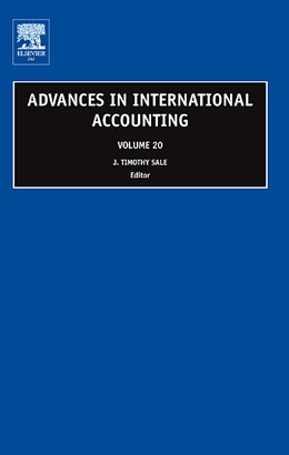 Abbildung von Sale | Advances in International Accounting | 2007 | 20