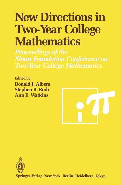 Abbildung von Albers / Rodi / Watkins | New Directions in Two-Year College Mathematics | 1985