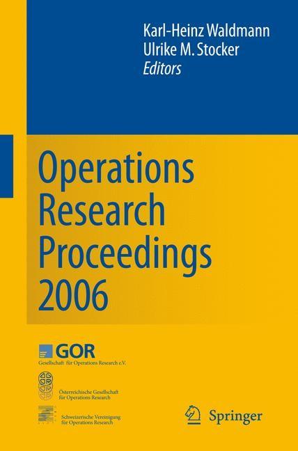 Abbildung von Waldmann / Stocker | Operations Research Proceedings 2006 | 2007