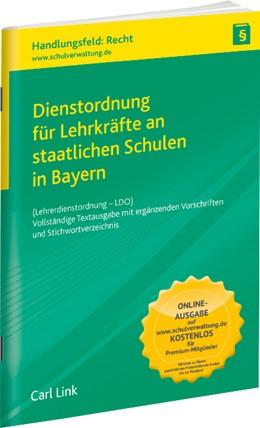 Abbildung von Dienstordnung für Lehrkräfte an staatlichen Schulen in Bayern | 26. Auflage | 2019 | beck-shop.de
