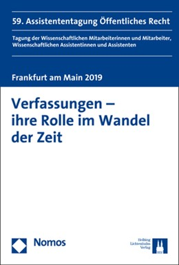 Abbildung von Donath   Verfassungen - ihre Rolle im Wandel der Zeit   2019   59. Assistententagung Öffentli...