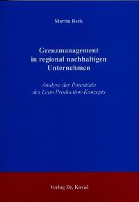 Abbildung von Beck | Grenzmanagement in regional nachhaltigen Unternehmen | 2004