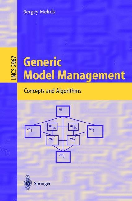 Abbildung von Melnik | Generic Model Management | 2004
