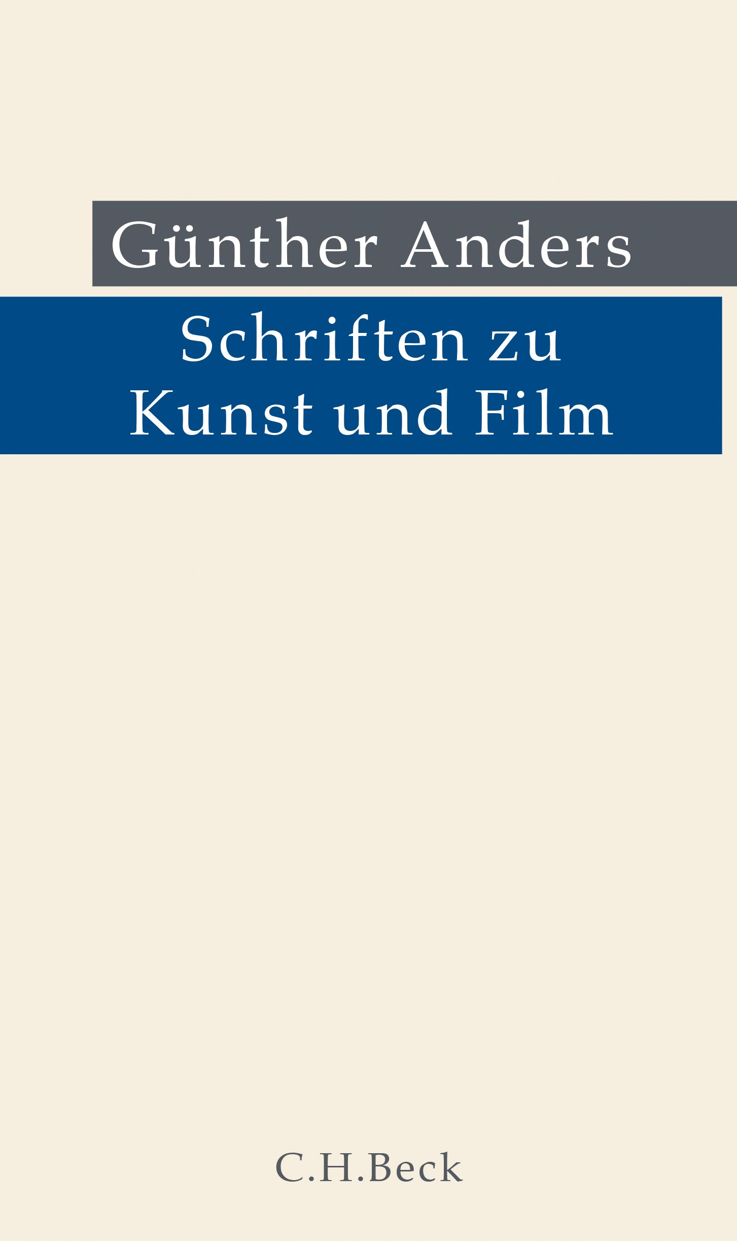 Schriften zu Kunst und Film Book Cover
