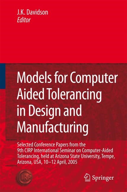 Abbildung von Davidson | Models for Computer Aided Tolerancing in Design and Manufacturing | 2006