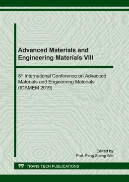 Abbildung von Wei   Advanced Materials and Engineering Materials VIII   2019   Volume 814