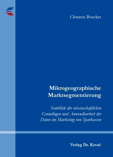Abbildung von Boecker | Mikrogeographische Marktsegmentierung | 2010
