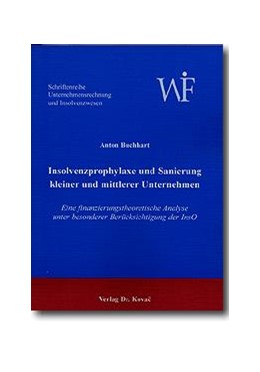 Abbildung von Buchhart   Insolvenzprophylaxe und Sanierung kleiner und mittlerer Unternehmen   2001   Eine finanzierungstheoretische...   1