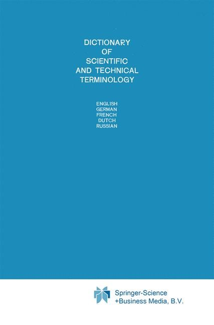 Abbildung von Dictionary of Scientific and Technical Terminology | 1984
