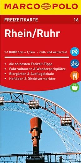 Abbildung von MARCO POLO Freizeitkarte Rhein, Ruhr 1:110 000 | 2. Auflage, Laufzeit bis 2023 | 2019