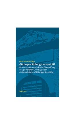 Abbildung von Behrends | Göttingen Stiftungsuniversität? | 2003 | Eine rechtswissenschaftliche Ü...