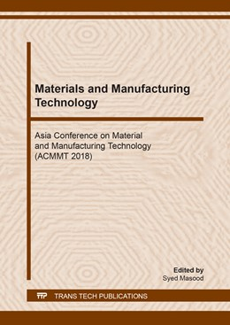 Abbildung von Masood | Materials and Manufacturing Technology | 2019 | Volume 295