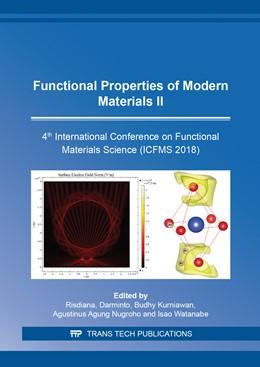Abbildung von Darminto / Kurniawan | Functional Properties of Modern Materials II | 1. Auflage | 2019 | Volume 966 | beck-shop.de