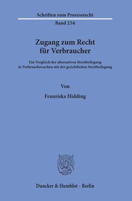 Abbildung von Hidding | Zugang zum Recht für Verbraucher. | 1. Auflage | 2019 | beck-shop.de