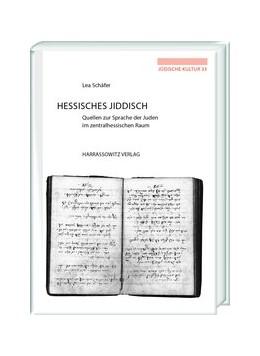Abbildung von Schäfer   Hessisches Jiddisch   2019   Quellen zur Sprache der Juden ...