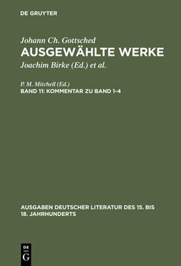 Abbildung von Gottsched / Mitchell   Kommentar zu Band 1-4   1983   1983   104