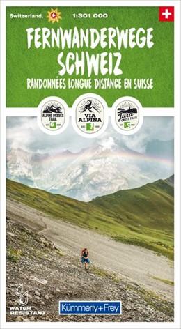 Abbildung von Fernwanderwege Schweiz 1:301 000 | 1. Auflage | 2019 | Randonnées longue distance en ...