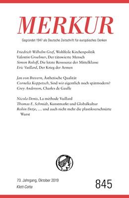 Abbildung von Demand | MERKUR Gegründet 1947 als Deutsche Zeitschrift für europäisches Denken - 2019-10 | 1. Auflage | 2019 | beck-shop.de