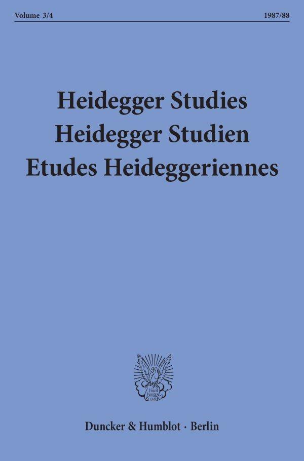 Abbildung von Emad / Herrmann / Maly / Fédier | Heidegger Studies / HeideggerStudien / Etudes Heideggeriennes. | 1988