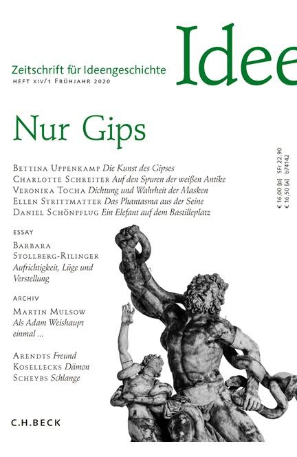 Cover: , Zeitschrift für Ideengeschichte Heft XIV/1 Frühjahr 2020