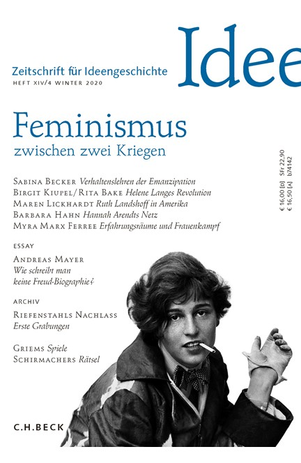 Cover: , Zeitschrift für Ideengeschichte Heft XIV/4 Winter 2020