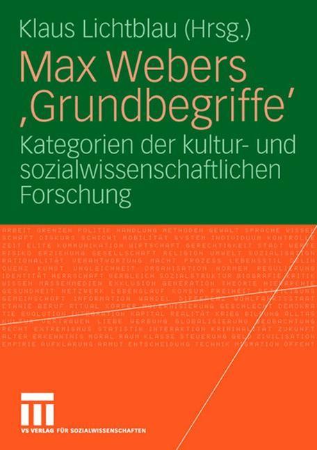 Abbildung von Lichtblau | Max Webers 'Grundbegriffe' | 2006