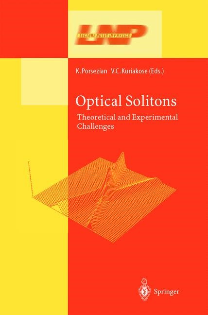 Abbildung von Porsezian / Kuriakose | Optical Solitons | 2003