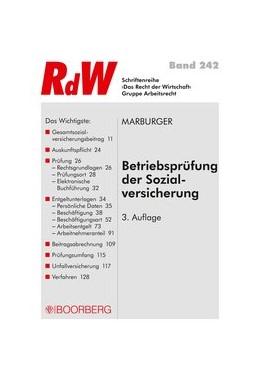 Abbildung von Marburger | Betriebsprüfung der Sozialversicherung | 3., vollständig überarbeitete Auflage, 2019 | 2019