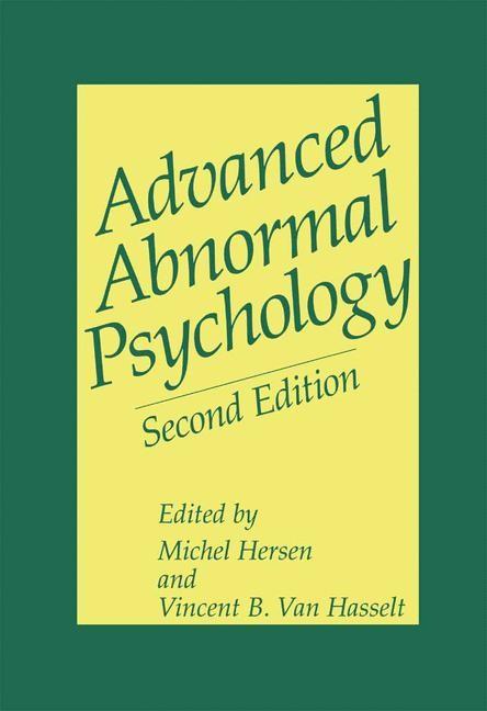 Abbildung von Hersen / Van Hasselt   Advanced Abnormal Psychology   2000