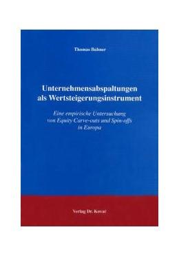 Abbildung von Bühner | Unternehmensabspaltungen als Wertsteigerungsinstrument | 2004 | Eine empirische Untersuchung v... | 21