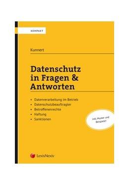 Abbildung von Kunnert   Datenschutz in Fragen & Antworten   1. Auflage   2019   beck-shop.de