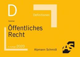 Abbildung von Sommer | Definitionen Öffentliches Recht | 6. Auflage | 2020