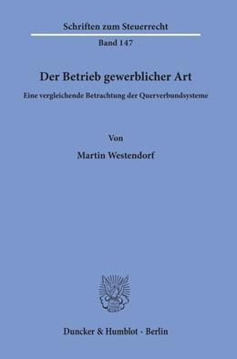 Abbildung von Westendorf | Der Betrieb gewerblicher Art | 2019 | Eine vergleichende Betrachtung... | 147