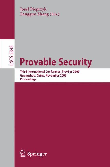 Abbildung von Pieprzyk / Zhang | Provable Security | 2009